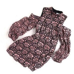 WAYF | pink lily lace coldshoulder tunic dress